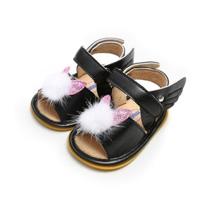Princess Baby Girl Sandals Summer Baby Girl Shoes Leather Foral Baby Girl Sandals Newborn Baby Shoes Beach Sandals