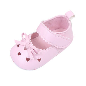 Newborn Baby Shoes Cute Bowknot Hollow Infant Baby Girls Crib Shoes Soft Sole Anti-slip Sneakers Shoes Girls First Walkers