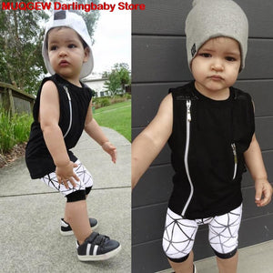 New Kids Clothes Children Clothing Boys Clothes Vest Summer Top Shorts Pants Outfits Fashion Cool Sundress Casual Daily Costume