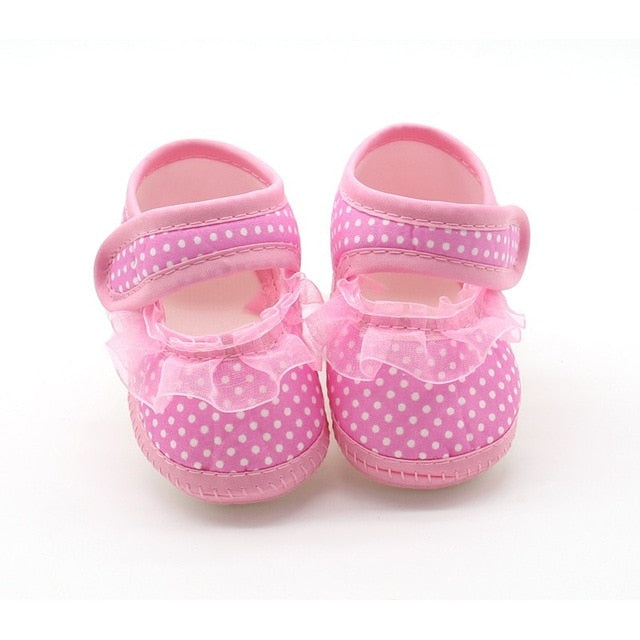 Lace Cloth Shoes Baby Girls First Walkers Toddler Bow Flower Footwear Summer Baby Girl Soft Sole Shoes