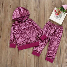 Load image into Gallery viewer, children's clothing girl Long Sleeve o-neck Clothes Set Solid Tops+Pants Outfits kid autumn winter suit ropa para adolecentes
