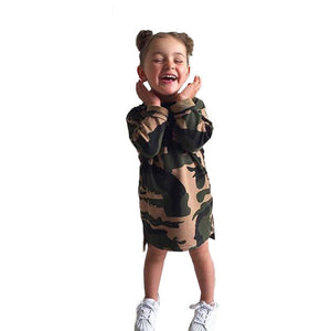 2019 new Toddler Infant Kid Baby Girl  Camouflage Dress Princess Dress Outfit ClothesDaily Wear Sashes Kids Casual Clothing