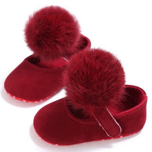 Load image into Gallery viewer, Baby Shoes Sweet Infant Toddler Prewalkers Girl Princess Hair Ball First Walkers Pram Crib Bebe Shoes 12