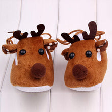 Load image into Gallery viewer, Warm Winter Baby Christmas Deer Shoes Sweet Antiskid Toddlers Shoes Baby Girls Infant Prewalkers