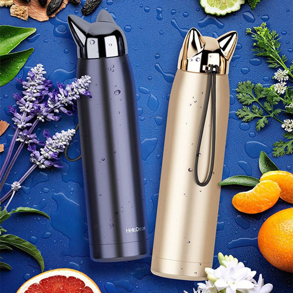 Bouteille Thermos Chat - Gourde Morning