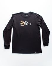 Load image into Gallery viewer, Love & Loyalty Long Sleeve T-shirt - Black