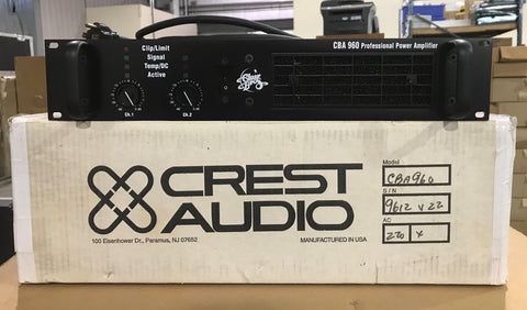 Crest Audio , CBA 960 Professional Power Amplifier , 220V