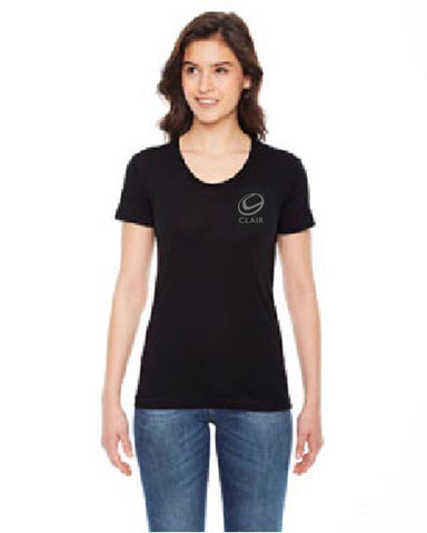 Unisex 50/50 Short Sleeve Tee (Black), Ladies