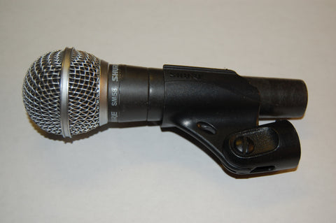 Shure SM 58 with mic clip, Used Professional Microphones For Sale