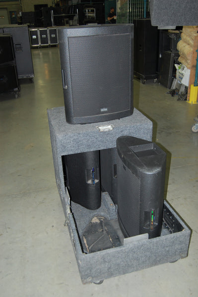 Showco PRISM L3-LF Low Frequency Cabinets (4) With Case