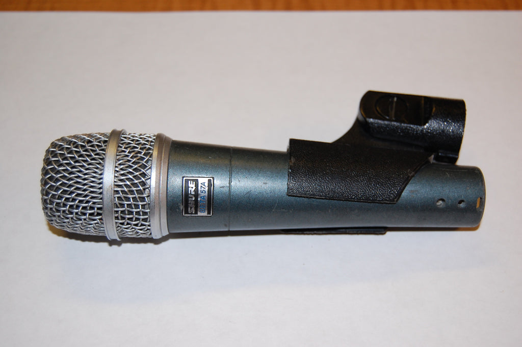 used shure beta 57a with mic clip professional microphones for sale clair used gear. Black Bedroom Furniture Sets. Home Design Ideas