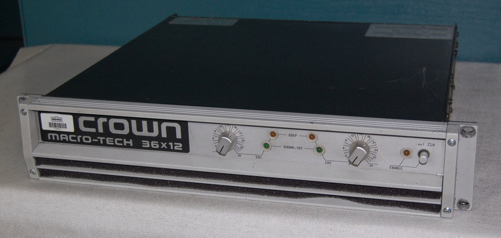 used crown 36x12 professional power amplifier amplifiers for sale clair used gear. Black Bedroom Furniture Sets. Home Design Ideas