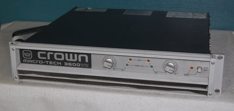 Crown Macro-Tech 3600 Amplifier. We Sell Professional Audio Equipment. Audio Systems, Amplifiers, Consoles, Mixers, Electronics, Entertainment, Live Sound