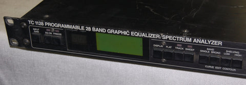 t.c. electronic 1128 Programmable 28 Band Graphic EQ / Spectrum Analyz