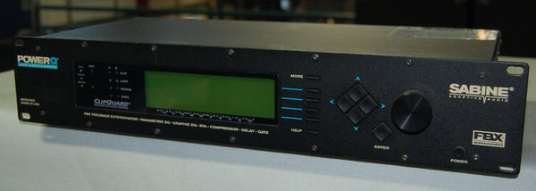Sabine PowerQ ADF-4000 Series, Feedback Exterminator, Parametric & Graphic EQ, Compressor, Delay, Gate