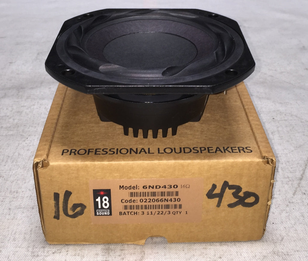 "18 Sound 6ND430 6.5"" Neodymium Woofer, 16 ohm"
