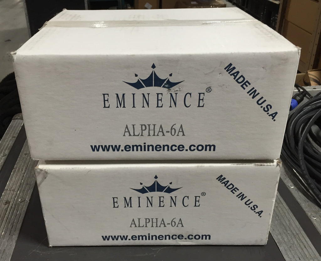 "Eminence Alpha-6A, Pair of 6"" Mid-Bass/Midrange Speaker,"