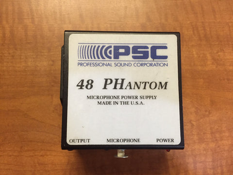 PSC 48 Phantom Mic Power Supply, Used Professional RFs For Sale
