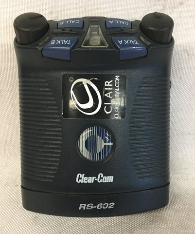 Used Clear-Com RS-602 Two Channel Beltpack for Sale. We Sell Professional Audio Equipment. Audio Systems, Amplifiers, Consoles, Mixers, Electronics, Entertainment, Live Sound