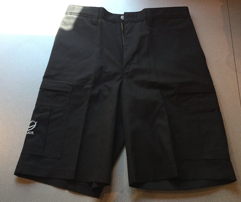 Dickies Cargo Shorts, Black w/ CLAIR Logo