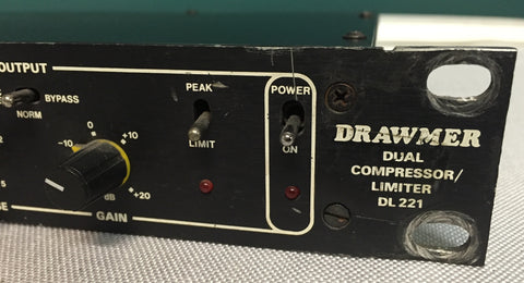 Used Drawmer DL221 Dual Compressor/Limiter for Sale. We Sell Professional Audio Equipment. Audio Systems, Amplifiers, Consoles, Mixers, Electronics, Entertainment, Live Sound