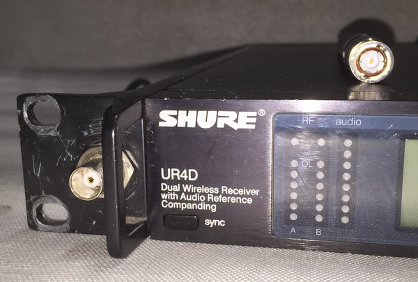 Shure UR4D Dual Wireless System with Two (2) Belt Pack Transmitters *CALL FOR AVAILABILITY*
