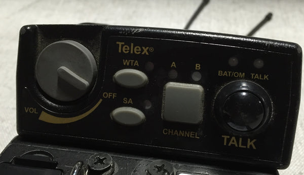 Telex TR-800 Beltpack Transceiver in C3 Frequency Group