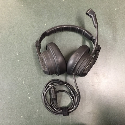 Used ClearCom CC-250D Double Muff Headset (Intercom) for Sale. We Sell Professional Audio Equipment. Audio Systems, Amplifiers, Consoles, Mixers, Electronics, Entertainment, Live Sound