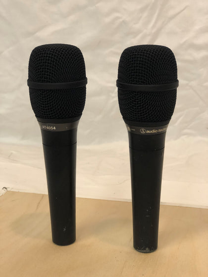 AT4054 Cardioid Condenser Microphone, With Mic Clip, LOT OF 2