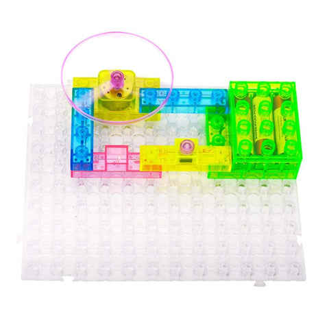 Zerodis. Integrated Electric Circuit, 59 Projects Electronic Energy Building Blocks English Puzzle Circuit Assembly Science Learning Education Toy