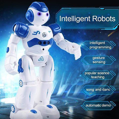 wuayi RC Remote Control Intelligent Smart Robot Action Walk Dance Gesture Sensor Electronic Toy for Kids Boys Xmas Gift