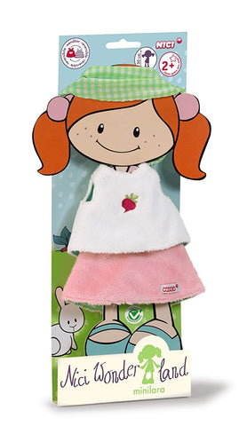 """Nici MiniLara"" NICI Wonderland 30cm Shirt Skirt and Hair Ribbon for Doll"