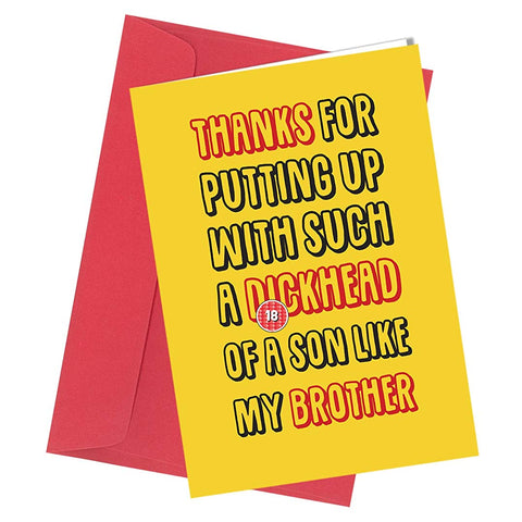 #217 MUM DAD BIRTHDAY FATHERS DAY Rude greetings card funny humour cheeky joke funny humour cheeky A4 folded to A5 (210 x 148mm when folded) By: Close to the Bone