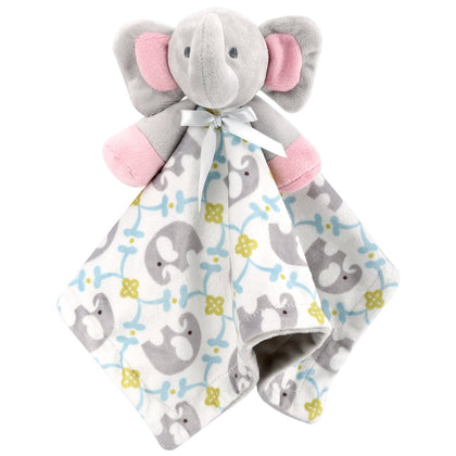 Zooawa Baby Security Blanket, Soft Stuffed Animal Elephant Plush Security Blanket Soothing Toy for Baby Toddlers Kids, Elephant