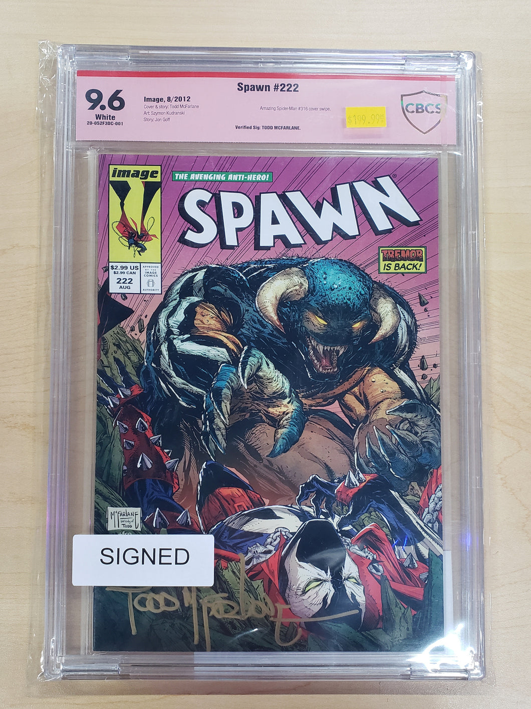 SIGNED Spawn #222 CBCS 9.6