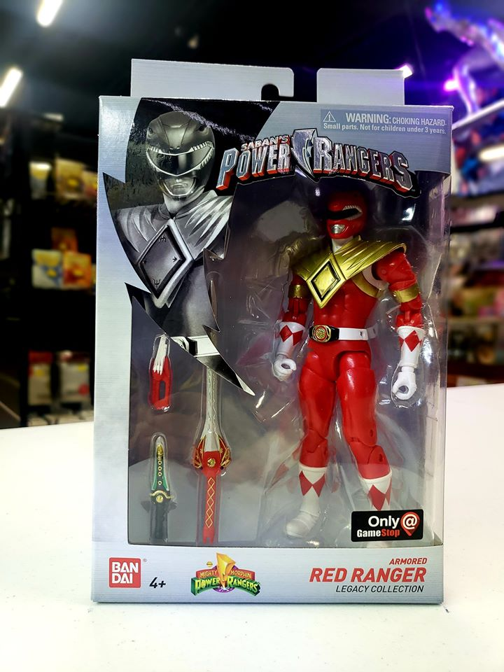 BANDAI MIGHTY MORPHIN POWER RANGERS LEGACY RED RANGER DRAGON SHIELD - GAMESTOP EXCLUSIVE