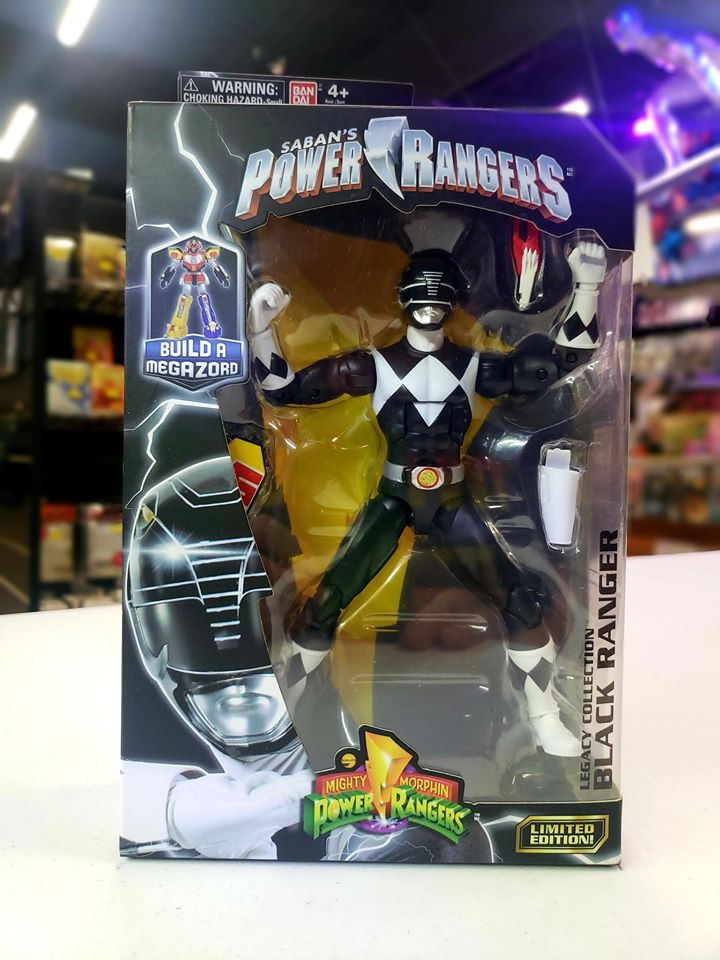 Mighty Morphin Power Rangers 6.5-Inch Black Ranger Legacy Figure