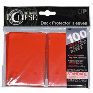 ULTRA PRO: ECLIPSE DECK PROTECTOR - APPLE RED STANDARD 100CT
