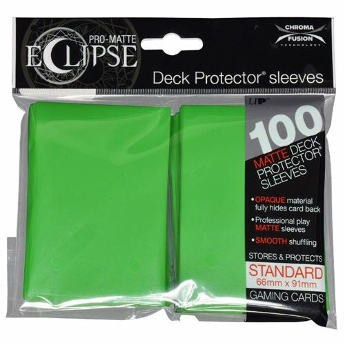 ULTRA PRO: ECLIPSE DECK PROTECTOR - LIME GREEN STANDARD 100CT