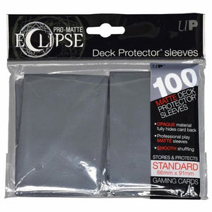 ULTRA PRO: ECLIPSE DECK PROTECTOR - SMOKE GREY STANDARD 100CT