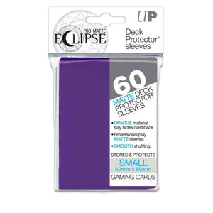 ULTRA PRO: ECLIPSE DECK PROTECTOR - ROYAL PURPLE SMALL 60CT