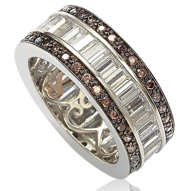 Sterling Silver CZ Baguette Band Ring