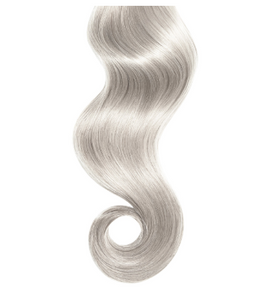 #Silver Human Hair Seamless Clip In Extensions