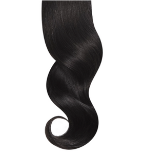 #1B Natural Black Human Hair Seamless Clip In Extensions