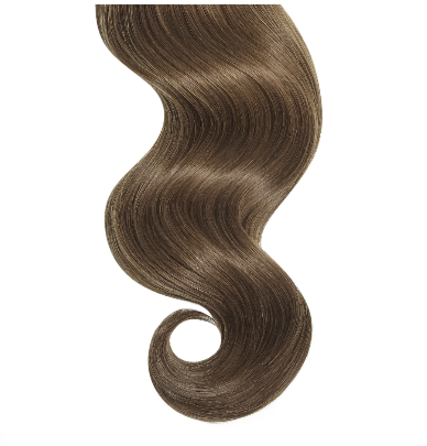 #6 Light Brown Straight Human Hair I Tip Extensions