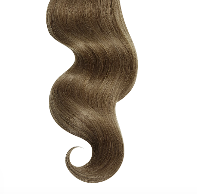 #10 Light Ash Brown Human Hair Clip In Extensions