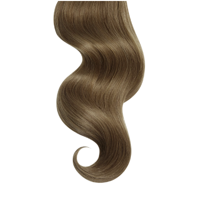 #8 Honey Brown Human Hair Hand Tied Weft