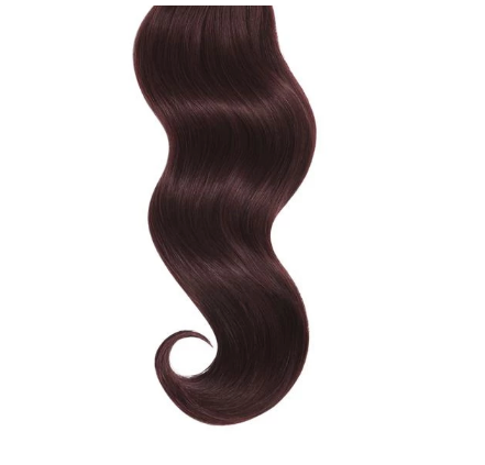 #Eggplant Red Human Hair Hand Tied Weft