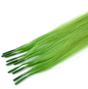 #Green Straight Human Hair I Tip Extensions