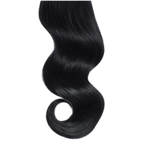 #1 Black Human Hair Hand Tied Weft